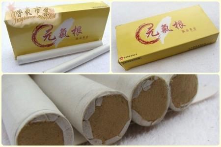 天然艾草薰香粗香條-元氣根(極品黃金艾絨)*1盒