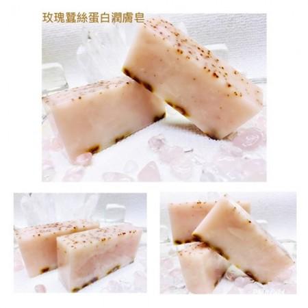 《香氛市集》680系列-玫瑰蠶絲蛋白精油手工皂100g