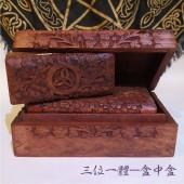 《香氛市集》三位一體木製盒中盒 塔羅盒/珠寶/首飾盒/牌盒