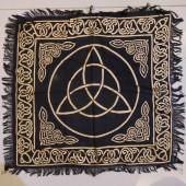 《香氛市集》18吋三位一體金線黑底聖壇布/桌布/桌巾/占卜布
