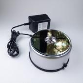 《香氛市集》七彩LED燈旋轉展示台/水晶底座(鏡面直徑8CM) (含電源線)