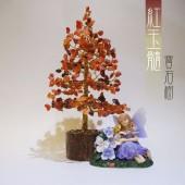 《香氛市集》紅玉髓活力寶石樹~居家風水擺飾,送禮自用兩相宜 ~寶石樹/風水樹/聖誕樹/耶誕樹