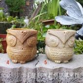 《香氛市集》印度手工雕刻滑石貓頭鷹擺飾/筆筒/花器/能量容器 4.5號