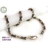 LC07-1銀飾~金剛杵造型銀鍊(附贈禮盒、拭銀布)