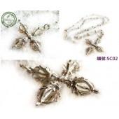 《香氛市集》SC02銀飾十字金剛杵珠珠細銀鍊