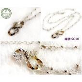 SC10銀飾~無限大星鑽鈴鐺珠珠銀鍊