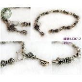 《香氛市集》LC07-2銀飾~金剛杵造型手鍊(19cm)