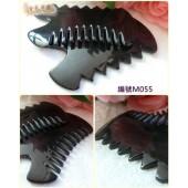 《香氛市集》 M055牛角雙面梳子型刮痧按摩工具 5支