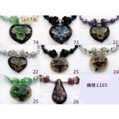 《香氛市集》L103內鑲琉璃水晶項鍊-大*8條