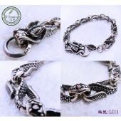 《香氛市集》LC11銀飾~龍造型手鍊(19cm)