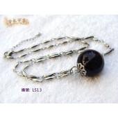 LS13紫水晶吊墜鋼鍊