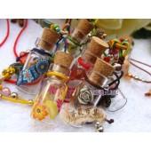 《香氛市集》 L082手工彩繪造型精油瓶吊鍊-高筒型*12條(溢香/擴香瓶)