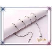 《香氛市集》橢圓造型細鋼鍊-項鍊