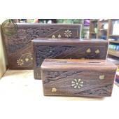 《香氛市集》手工雕刻木盒三件組